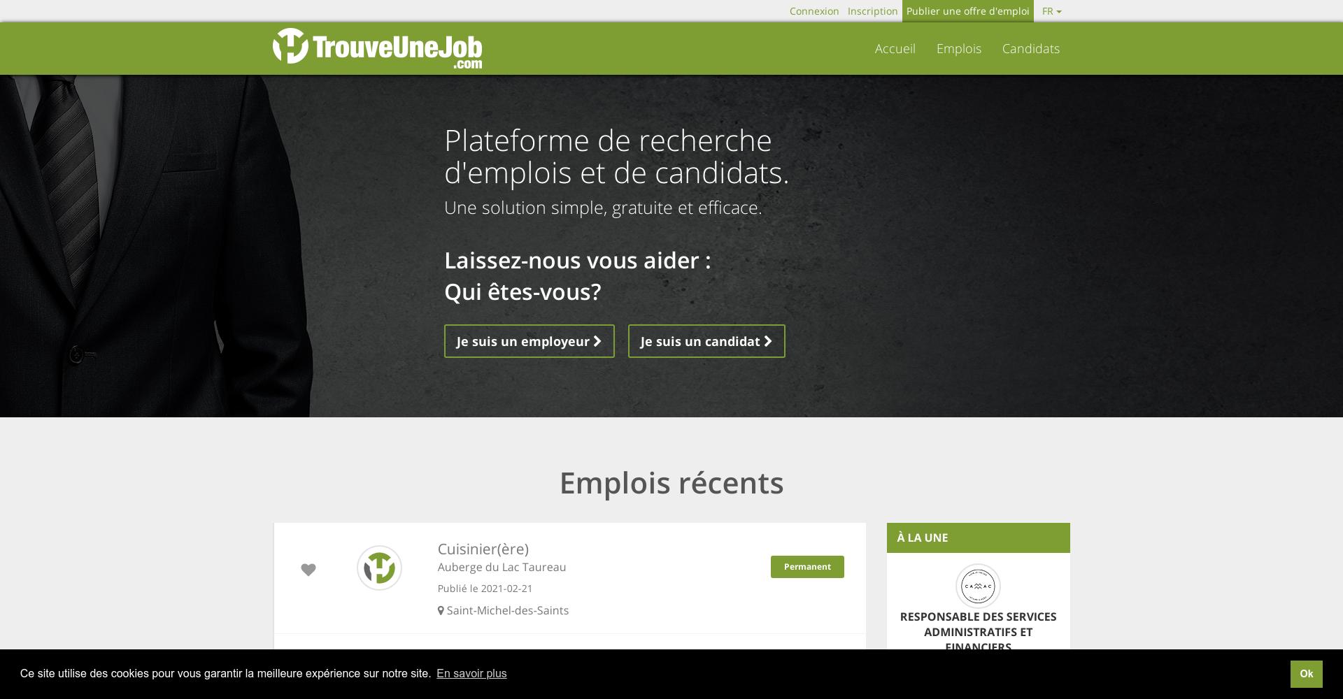 Trouve une job